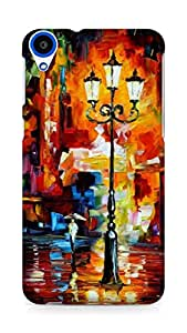 Amez designer printed 3d premium high quality back case cover for HTC Desire 820 (Leonid Afremov oil painting)