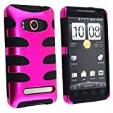 Fishbone Design Hybrid Hard/Gel Phone Cover Protector Case for HTC EVO 4G S ....