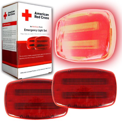 American Red Cross Battery Powered Bicycle Light Set 2 pk.