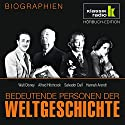Bedeutende Personen der Weltgeschichte: Walt Disney / Alfred Hitchcock / Salvador Dalí / Hannah Arendt Hörbuch von Anke Susanne Hoffmann Gesprochen von: Achim Höppner, Axel Wostry