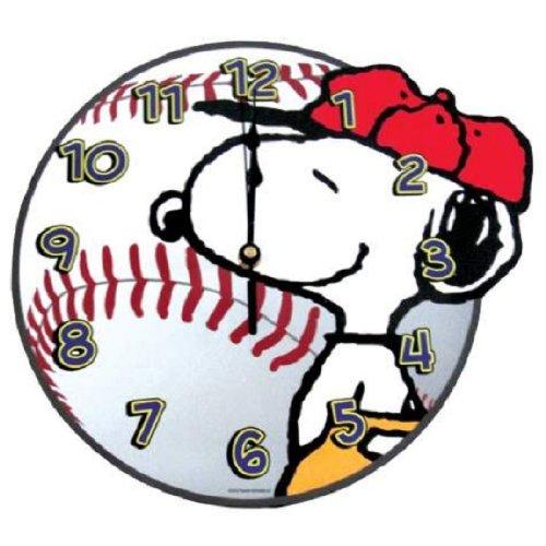 Peanuts Baseball Snoopy Wall Clock by Westland Giftware