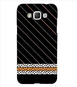 Black pattern Back Case Cover for Samsung Galaxy J7::Samsung Galaxy J7 J700F