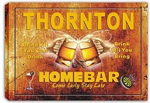scp3-2263 THORNTON Home Bar Pub Bar Stretched Canvas Print Sign