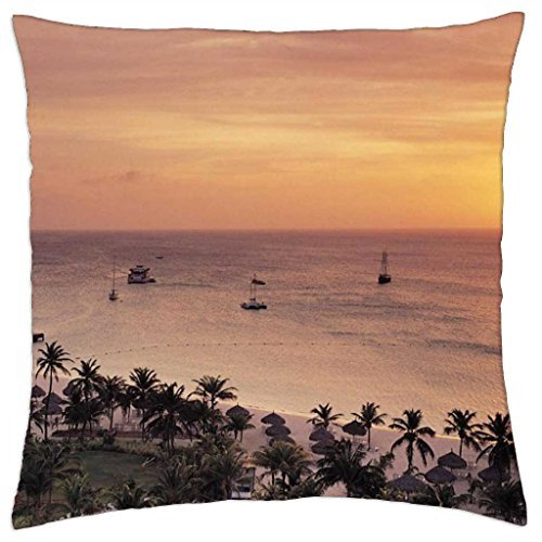 radisson-resort-on-aruba-at-sunset-throw-pillow-cover-case-18-x-18