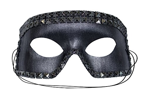 Lance Studded Scary Black Men's Masquerade Mask