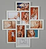 Fotocollage inklusiv Schrauben - Bilderrahmen mit Glasscheiben für 10 Fotos Weiß - Fotogalerie Fotorahmen Bilderrahmen Bildergalerie Collage Galerie - direkt vom Hersteller