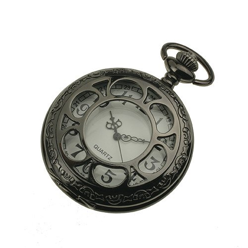 ess mens black stainless steel white antique pocket