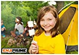 "Enji Prime Best Marshmallow Roasting Sticks With 80 bamboo barbecue shrimp bbq kabob shish kebab smores skewers 15"" Long Great Fondue Skewers & Hot Dog Roasting Sticks Disposable Nontoxic All Natural"