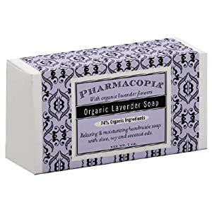 Pharmacopia Organic Lavender Soap, with Organic Lavender Flowers, 7-Ounces (Pack of 2)
