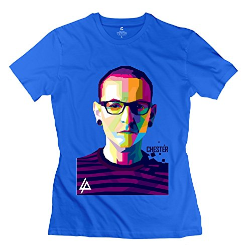 Geek Linkin Park Chester Women's T Shirt RoyalBlue Size M (Starbucks Coffee Maker Games Free compare prices)