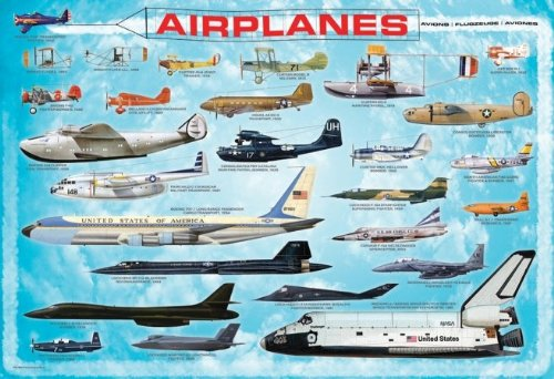 Eurographics-EUROKIDS-0086-Jigsaw-Puzzle-100-Pieces-13-in-x-19-in-History-Of-Aviation