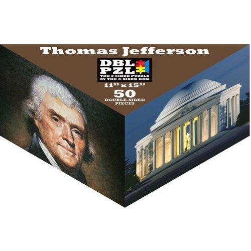 Thomas Jefferson DBL PZL 50 Pc Double Sided Jigsaw Puzzle