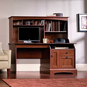 Sauder Graham Hill Computer Desk With Hutch In Autumn