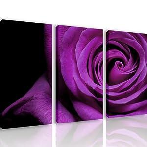 S26 viola rosa 3 quadri moderni 120x80 cm stampa for Quadri arredo salotto