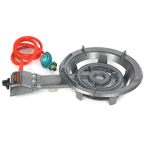SINGLE GAS PROPANE BURNER STOVE OUTDOOR CAMPING TAILGATE BBQ COOK (Gaz Pizza Oven compare prices)