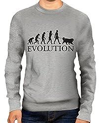 Bernese Mountain Dog Evolution of Man - Unisex Sweater Jumper - Mens/Womens/Ladies
