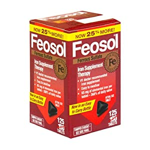 Feosol Ferrous Sulfate Iron Supplement Therapy, Tablets - 125 ea