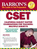 Barron's CSET: California Subject Matter Exams for Teachers: Multiple Subjects