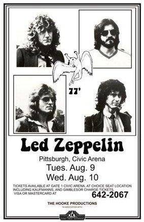 11X17 Poster Print Led Zeppelin 1977 Live