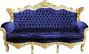 casa padrino barock sofa master royal blau. Black Bedroom Furniture Sets. Home Design Ideas