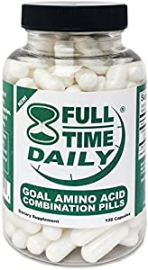 Full-time Daily - Goal Amino Acids Combination Pills 120 Capsules For Women And Men - Best L-glycine L-ornithine L-arginine L-lysine Complex Blend -anti Aging Formula - Top Nitric Oxide Supplements Premium No2 Boosters from Full-Time