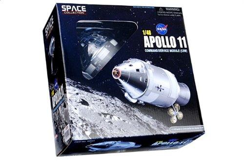 """1:48 ドラゴンモデルズ エアロスペース プログラム 52503 North アメリカン アポロ CSM ダイキャスト モデル NASA アポロ 11 """"Columbia"""" Launch 7月 16"""
