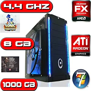 AMD FX 4170 4.4 GHZ QUAD CORE ATI HD 6670 8GB RAM 1TB HOME GAMING PC COMPUTER WINDOWS 8 64BIT by Ochw Amd