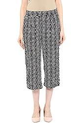 Akkriti by Pantaloons Women's Slim Fit Culottes ( 205000005637592, Black, Medium)