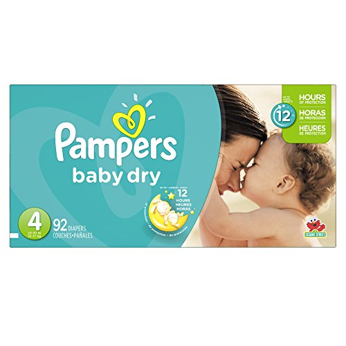 Pampers Baby Dry Size 4 Sesame Street Diapers - 92 CT 92 CT (Pack of 1) - 1