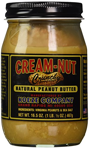 Cream Nut Natural Crunchy Peanut Butter, 16.5 Ounce (Cream Nut compare prices)