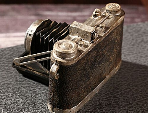 Zakka Grocery Home Furnishing Decor Craft Ornaments Worn Do Dirty Craft Tin Camera/radio/piano Decoration (Camera) 2