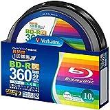 Verbatim 録画用50GB 片面2層 1-4倍速対応 BD-R DL追記型 ブルーレイディスク 10枚入り VBR260YP10SV2