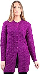 Montrex Women's Plain Coats (Montrex-6415Purple, Purple, M)