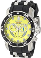 Invicta Men's 6978 Pro Diver Collection Chronograph Yellow Dial Black Polyurethane Watch by Invicta