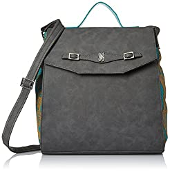 Baggit L Swing Dora Women's Handbag(Grey)