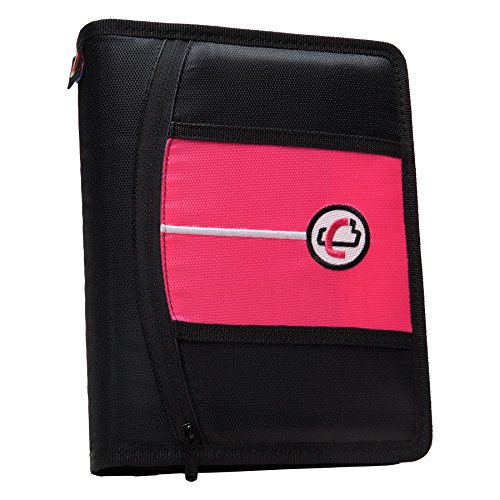 case-it-mini-tab-3-ring-binder-with-1-inch-capacity-neon-pink-mbf-711-neo-pnk