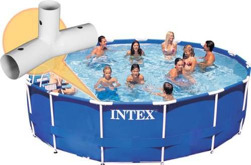 Intex frame connection tee for 14 15 and 18 ft pools for Pool garden outlet