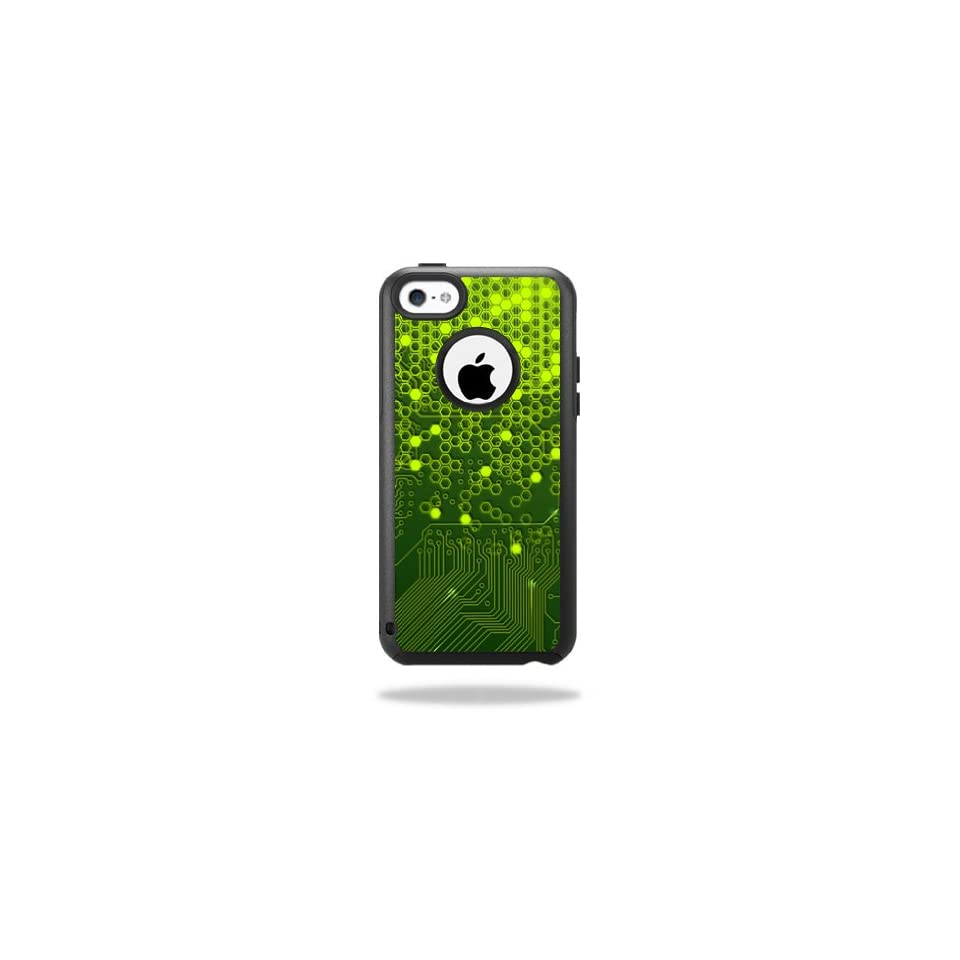 MightySkins Protective Vinyl Skin Decal Cover for OtterBox Commuter iPhone 5C Case Sticker Skins Short Circuit Cell Phones & Accessories