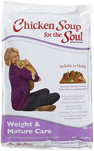Chicken Soup for the Soul Weight & Mature Care Cat 15lb (Chicken Soup Cat compare prices)