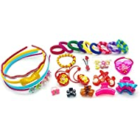 Ziggle 27 Pcs Hair Accessories Fashion clips Hair band Head band Clutches hair pin hair rubber gift for girl New Launch 28th Sept 2016