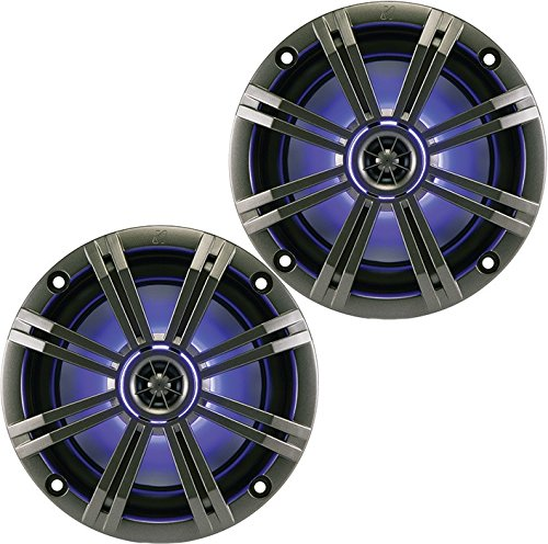 Kicker KM654LCW (41KM654LCW) 6.5 Inch 2-way Marine Speaker Pair with Built-In LED Lighting 2 канальный усилитель kicker xs50