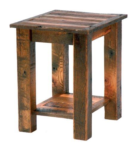 Cheap Barnwood Open End Table (B001KLIZPU)