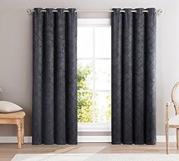 HLC.ME Redmont Lattice Wide-Width Thermal Blackout Grommet Curtain Panel - 84\