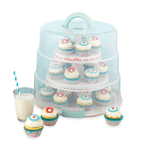 Sweet Creations Cupcake and Cakepop Display Carrier, White