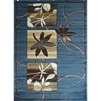 Modern Area Rug Design # S 252 Blue