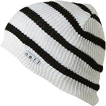Neff Daily Stripe Beanie White/Black, One Size