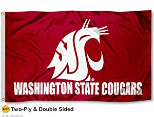 WSU Cougars Double-Sided 3x5 Flag