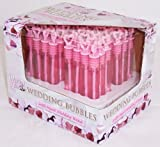 48 x Wedding Bubble - Bubbles Wands - Party Favours (Pink)