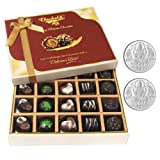 Chocholik Belgium Chocolates - Great Combination Of 20 Pc Assorted Chocolates With 5gm X 2 Pure Silver Coins -...