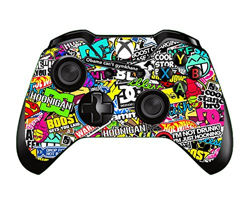 SKINOWN® Xbox One Controller Skin Art Bombing Slapping Sticker Vinly Decal Cover for Microsoft Xbox One DualShock Wireless Controller